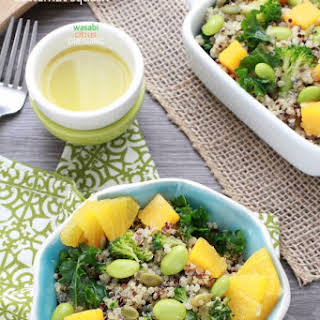 Fall Quinoa Salad with Roasted Butternut Squash and Wasabi Citrus Dressing.