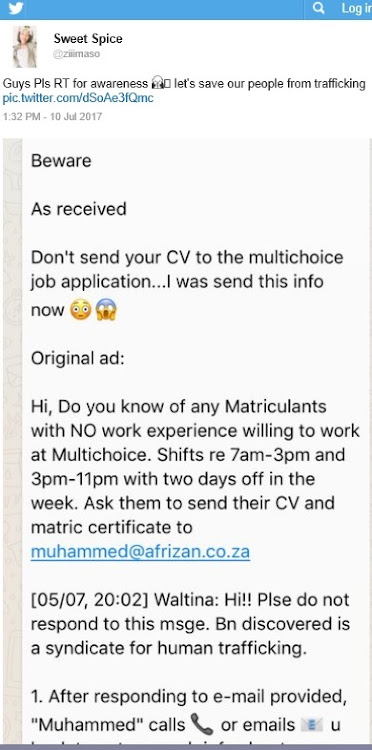 Beware of fake job listings