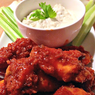 Buffalo Wings with Blue Cheese Dressing.