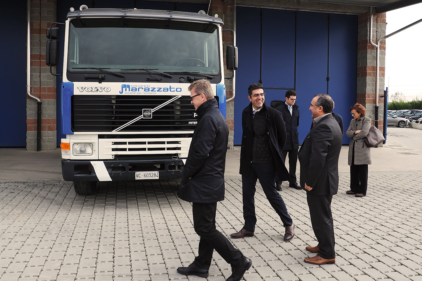 Luca Marazzato con la delegazione Volvo