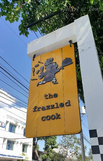 The Frazzled Cook's signage