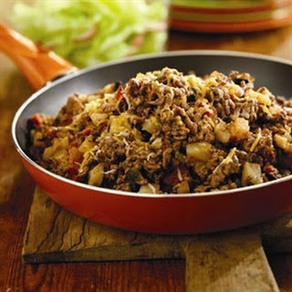 SOUTH-OF-THE-BORDER BEEF HASH.