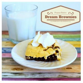 Peanut Butter Dream Brownies #Choctoberfest.