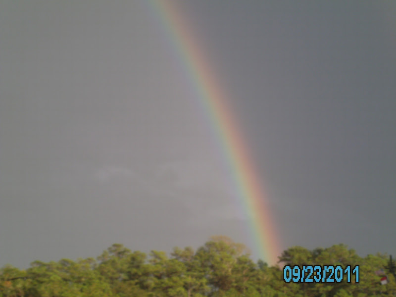 Photo: Rainbow from the Cherry Branch Ferry dock