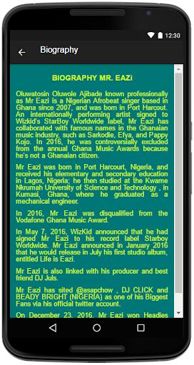 Download Mr  Eazi Song&Lyrics Google Play softwares