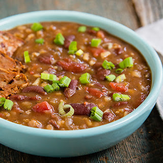 Instant Pot Red Beans and Rice Soup.