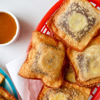 Banana Chocolate Wonton Poppers.