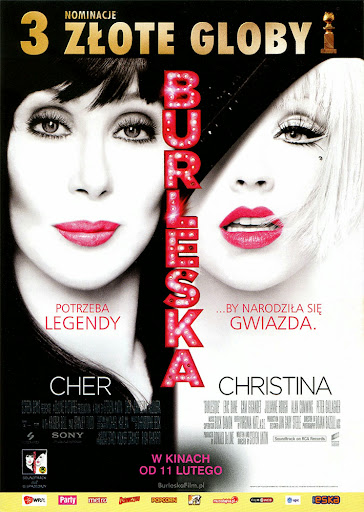 Przód ulotki filmu 'Burleska'