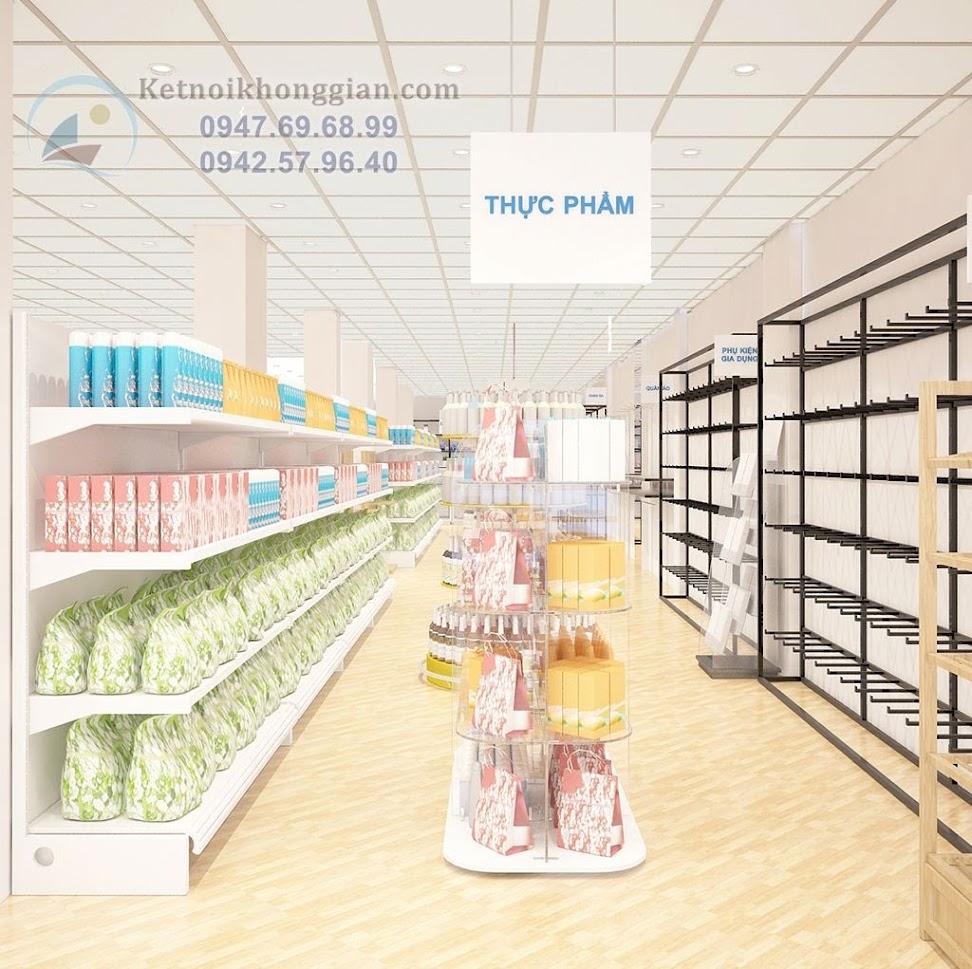 thiết kế siêu thị mini phong cách hiện đại, đẹp mắt