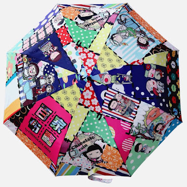 8584-Umbrella (Patchwork Village)