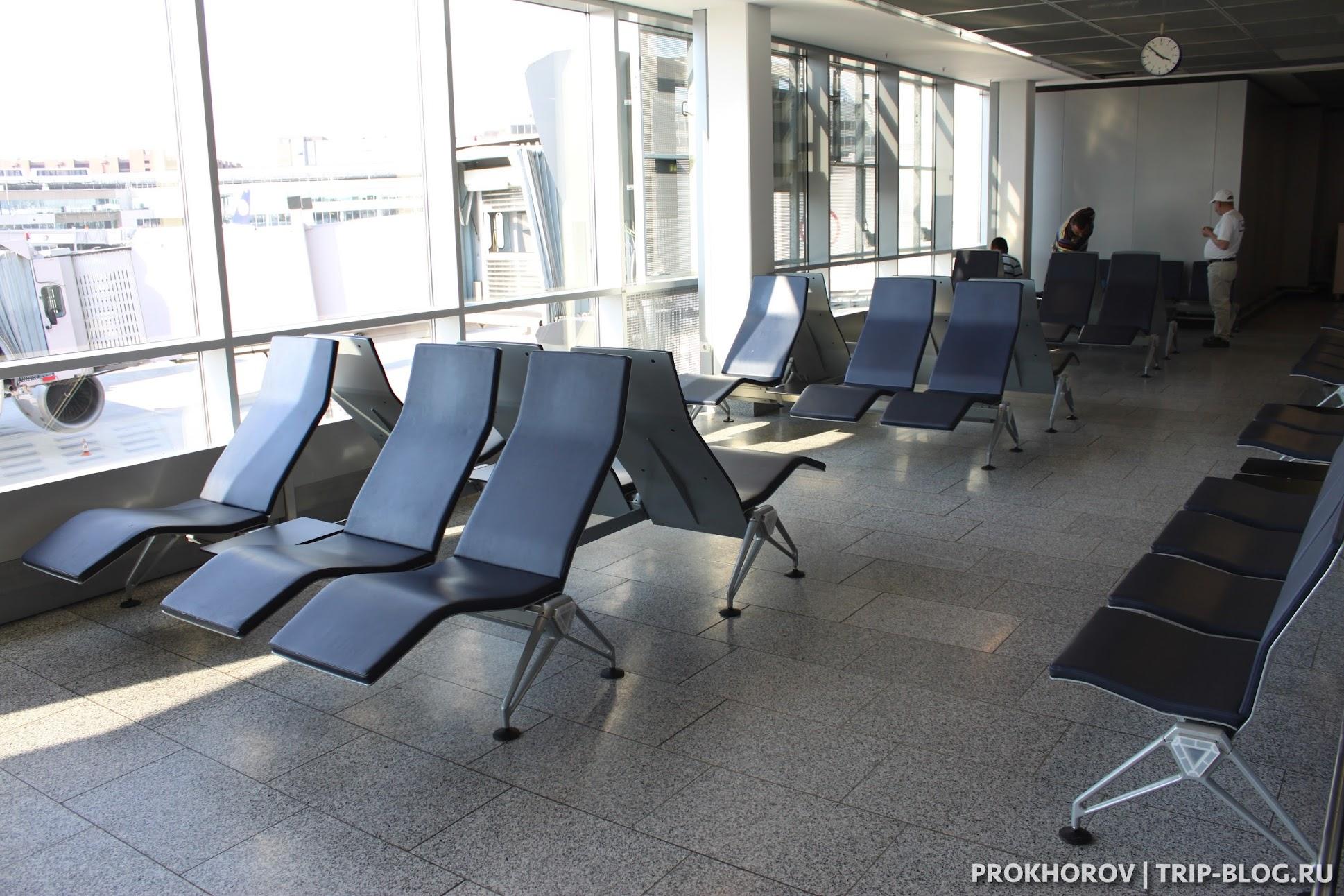 Зоны отдыха в аэропорту Франкфурта