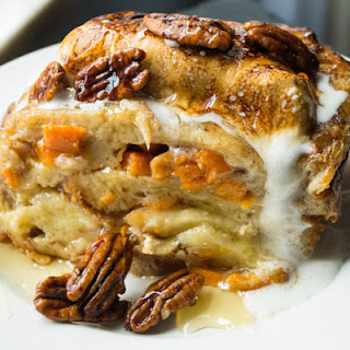 Bourbon Sweet Potato Bread Pudding