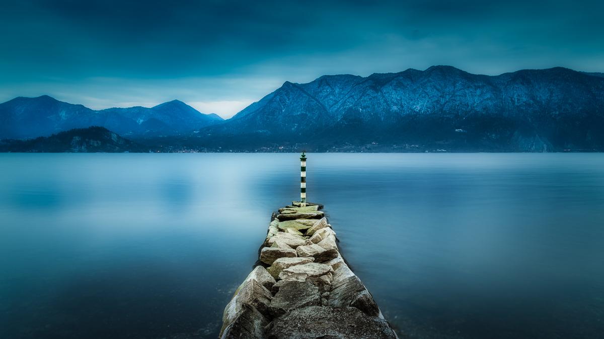 Un tramonto in blu