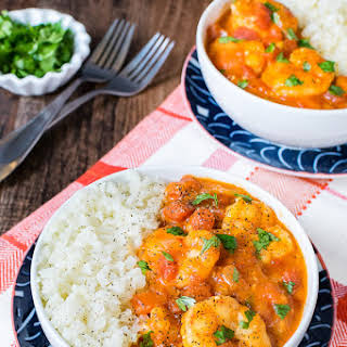 Easy Coconut Curry Shrimp.