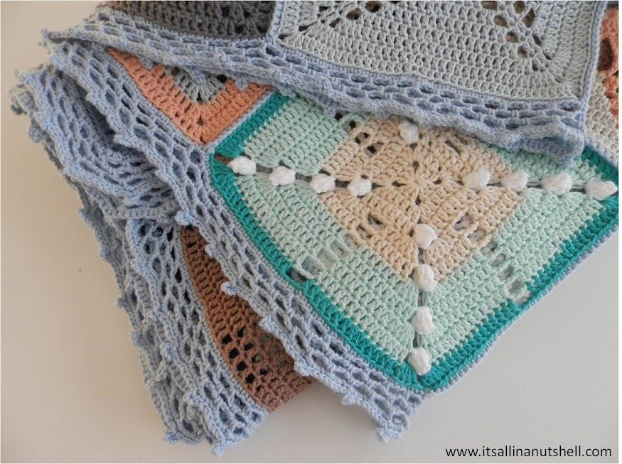 border of scheepjes cal 2014 granny square blanket