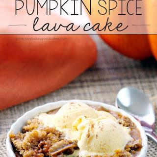 Slow Cooker Pumpkin Spice Lava Cake