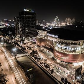 Bekasi City at night by Irfan Firdaus - City,  Street & Park  Night ( nightscape, cityscape, travel, building, low light,  )