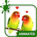 Lovebirds Animated Keyboard + Live Wallpaper icon