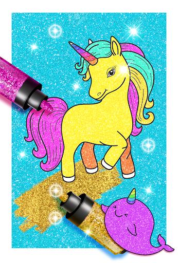 Rainbow Glitter Coloring Book Unicorn Artist App Report On Mobile