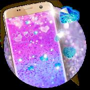 Purple Glitter Theme: Shining Sparkle wallpaper HD