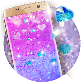 Purple Glitter Theme: Shining Sparkle wallpaper HD