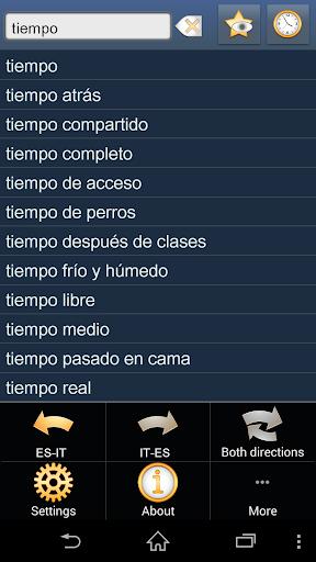 Spanish Italian Dictionary Fr