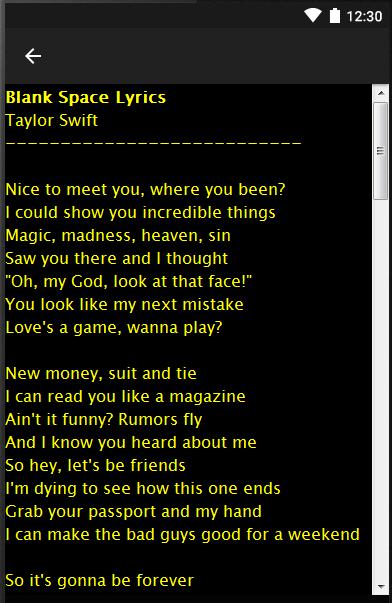 Taylor swift love story lyrics android apps on google play taylor swift love story lyrics screenshot stopboris Images