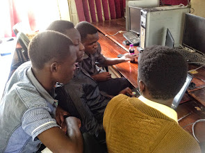 Photo: Second group planning their approach