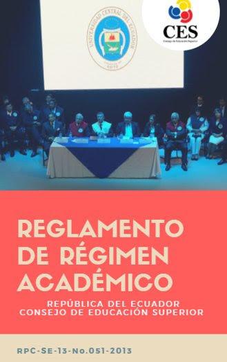 Reglamento de Régimen Académico
