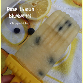 Pear, Lemon, Blueberry Choppedsicles