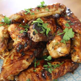 Sticky Chicken Wings.