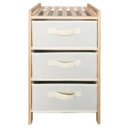 Dulap din lemn pentru depozitare, prevazut cu 3 sertare
