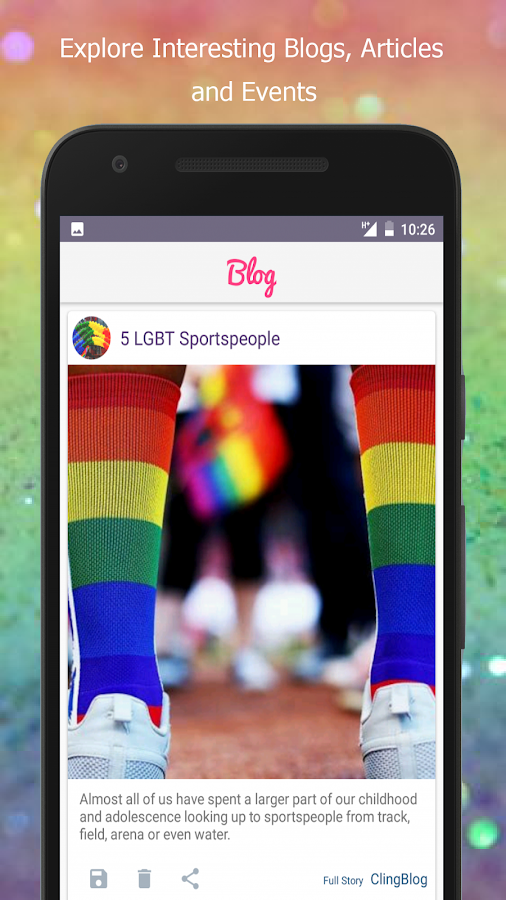 LGBT+ Discovery App : JustCling- screenshot