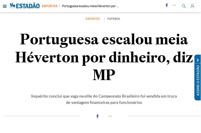 Portuguesa se vendeu para salvar o Flamengo em 2013
