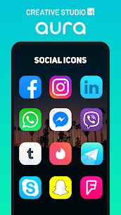 Aura Icon Pack – Rounded Square Icons Patched APK 2