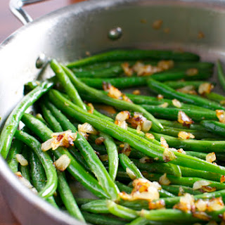 Sauteed Green Beans with Sweet Onions.