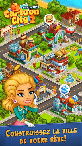 Ville 2:village et ferme.Construisez votre maison captures d'u00e9cran 1
