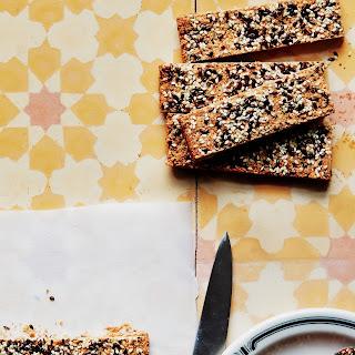Crunchy Cashew-Sesame Bars Recipe | Epicurious.Com Recipe