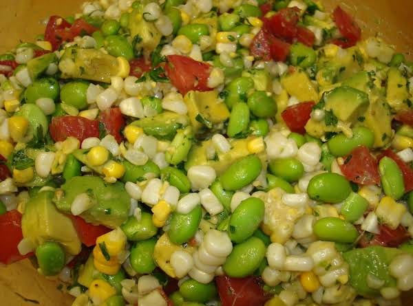 Edamame, Corn And Tomato Salad Recipe