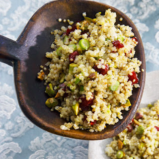 Quinoa Salad with Pistachios and Cranberries.