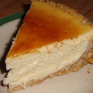 Baked Cheesecake using just one 8 oz. pkg. cream cheese.