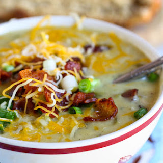 Cheesy Green Chile and Potato Chowder