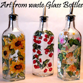 Art From Waste Glass Bottles