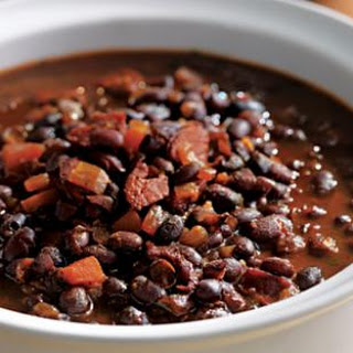 Bobby Flay's Honey-Rum Baked Black Beans.