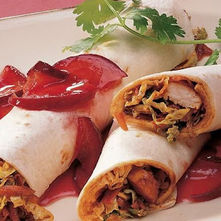 Mou Shu Chicken Wraps.
