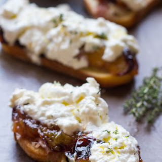 Honey Roasted Plum Crostini with Burrata and Prosciutto