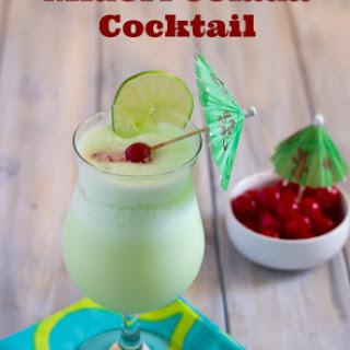 Midori Colada Cocktail.