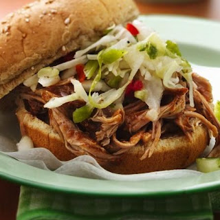 Slow-Cooker Carolina Pulled-Pork Sandwiches.