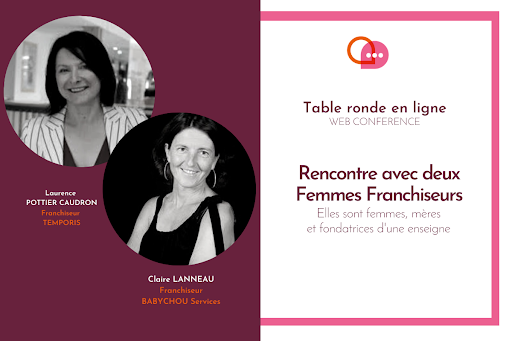 Web conférence deux femmes franchiseurs
