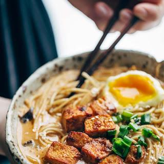 Homemade Spicy Ramen with Tofu.